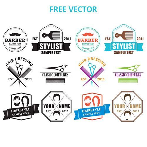 Прическа логотипы вектор