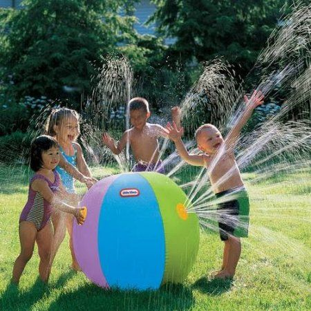 Little Tikes Ultimate Beach Ball Sprinkler ($9.74, on sale right now, regularly $12.99) | Toys R Us. Awesome! Makes me want to be a kid again. :) Looks gigantic from the photo. (This is the lowest price I've seen so far for this toy; other sites are selling it for as much as $52.51!) #kids #summer #water #toys