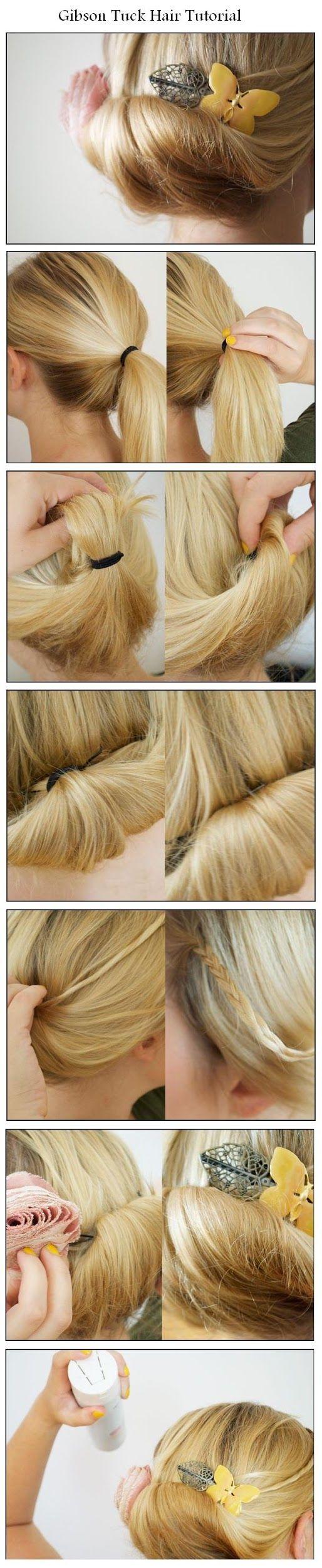 Gibson Tuck Hair Tutorial | hairstyles tutorial