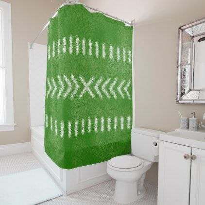 Minimalist Tribal Pattern In Lime Green Shower Curtain   Home Decor Design  Art Diy Cyo Custom Part 91