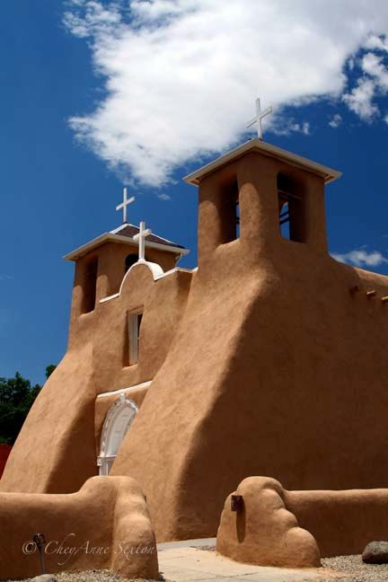 San Fransico de Assi Church out of Taos New Mexico  by CheyAnneSexton