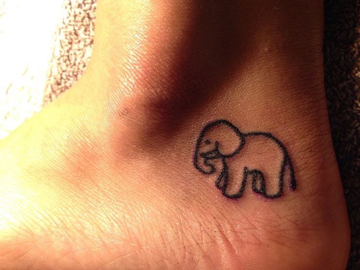 Micro tattoo • tattoo italia • elephant tattoo • female tattoo artists • little tattoo • healed • My artwork • tattooist