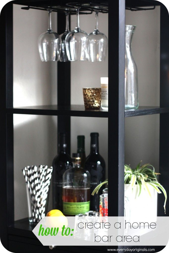 how to create a home bar area via www.everydayoriginals.com Keep The Stirs out