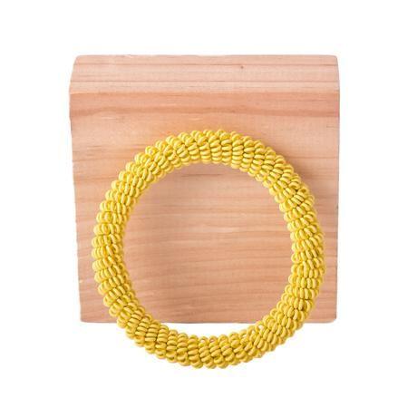 thumbnail for Spiral bangle - custard