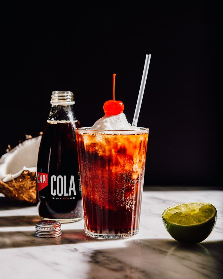 Parting is such a sweet, sweet sorrow. We Jazz this take on a Pina-Cola-Da (pun intended) with coconut ice cream and cherries. Mmm, shake it up below.