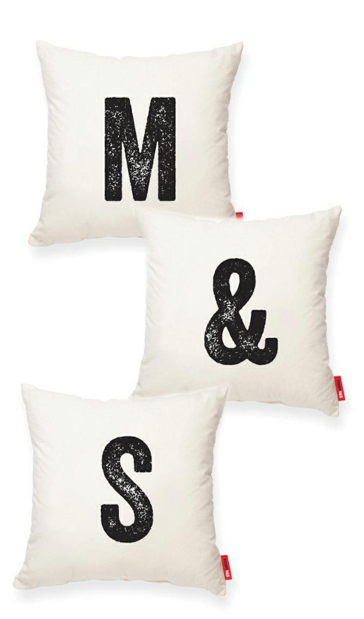 Initials Pillows
