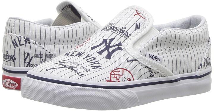 Vans Kids Classic Slip-On x MLB New York/Yankees/White) Kids Shoes