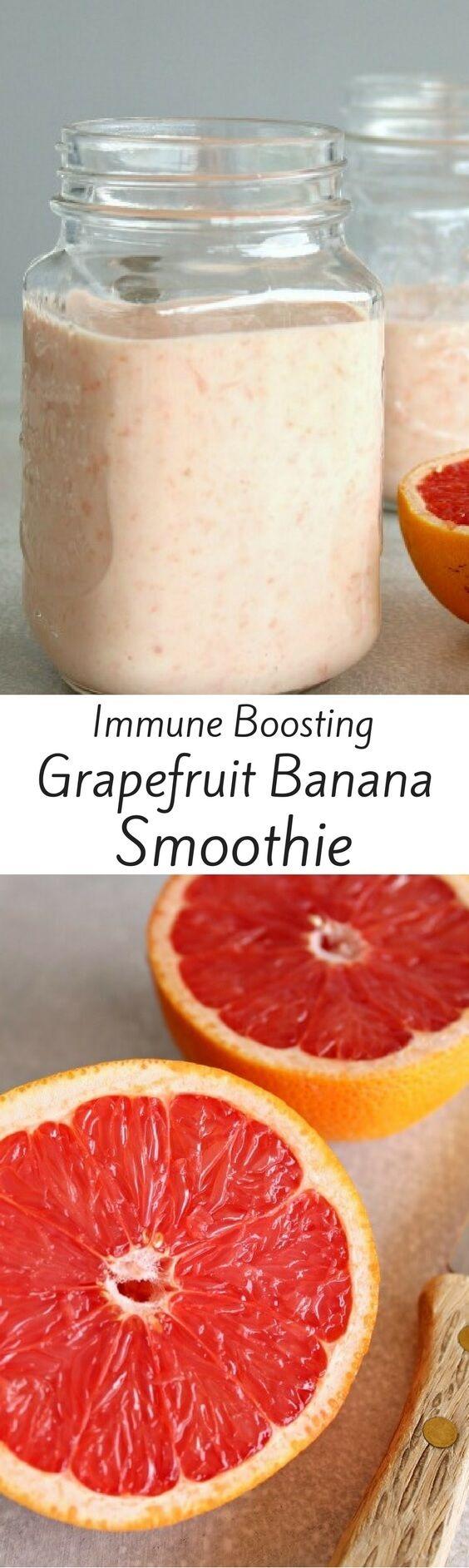 Grapefruit and Banana Smoothie