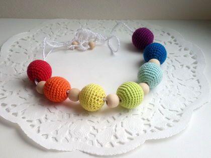 Rainbow nursing necklace | Радужные слингобусы, разноцветные слингобусы