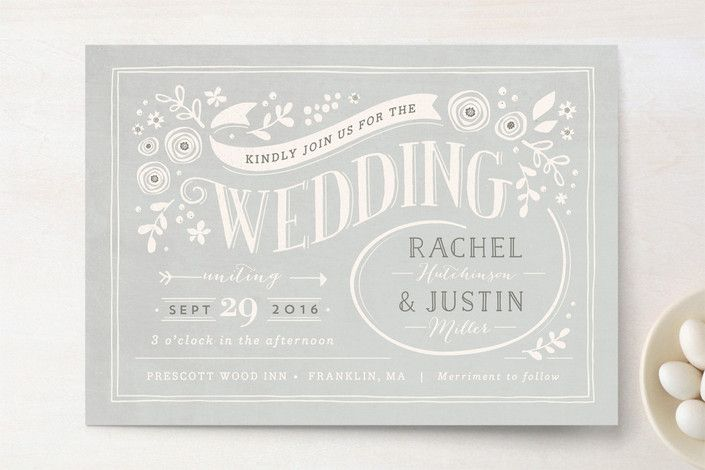 Alabaster Florals Wedding Invitations by Jennifer Wick at minted.com