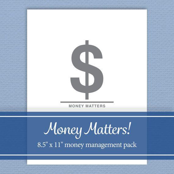 Money Management Kit - Budget, Track Spending, Manage Accounts - Editable PDF - Digital Download - Standard Letter Size