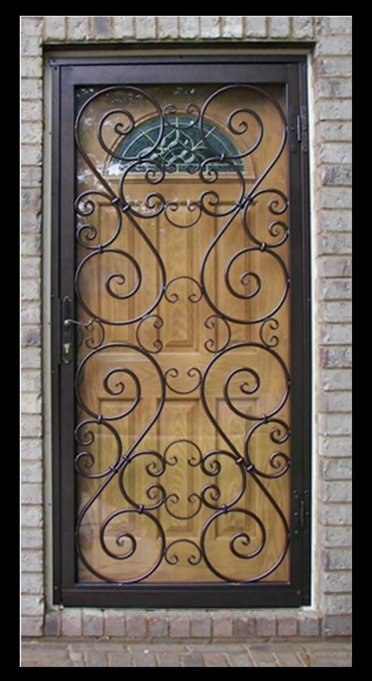 Decorative Steel Doors : Best security door windows etc images on pinterest