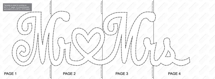 Mr & Mrs String Art Template by StringArtTemplate on Etsy