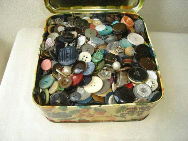 THE BUTTON BOX, mum hade one, liked to play with all the different buttons
