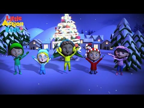 Jingle Bell Rock | Christmas Songs and Carols By Little Action Kids - YouTube