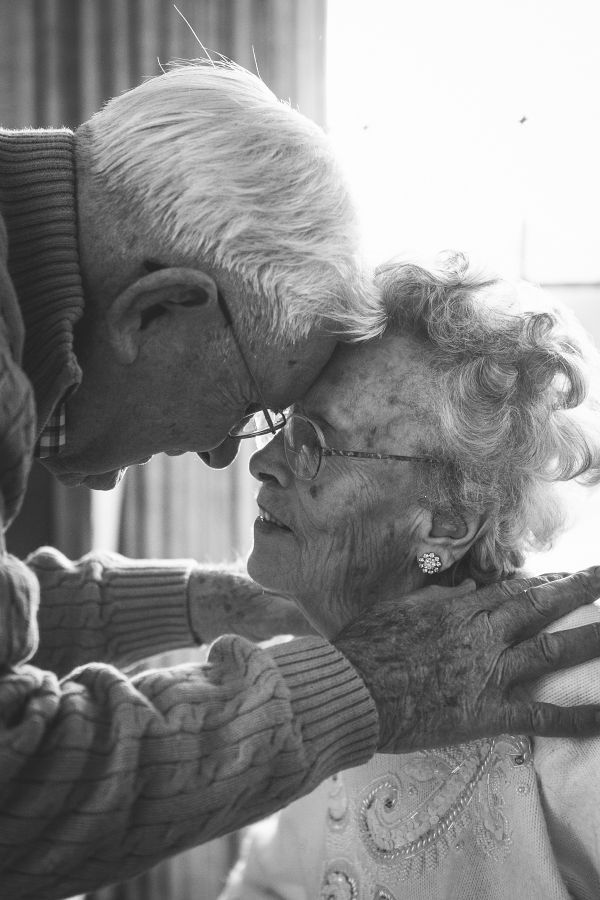 This old love! Frank, 92, and Evelyn, 89, are still blissfully in love after 65 years of marriage.   Photo by Samantha Martin