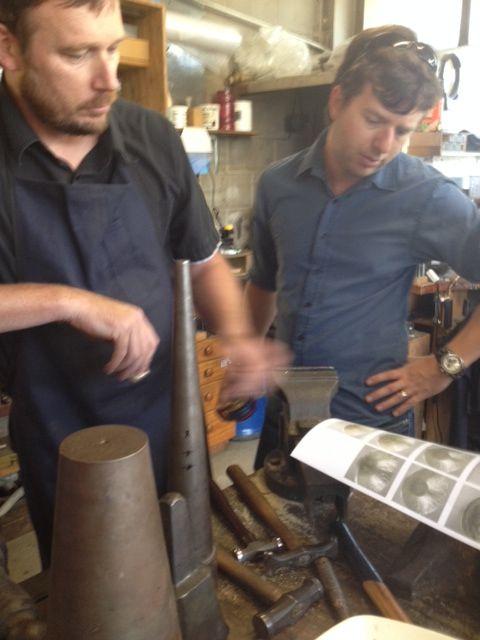 Jewellers Heath & Zane at work #jenshansen #theringmaker