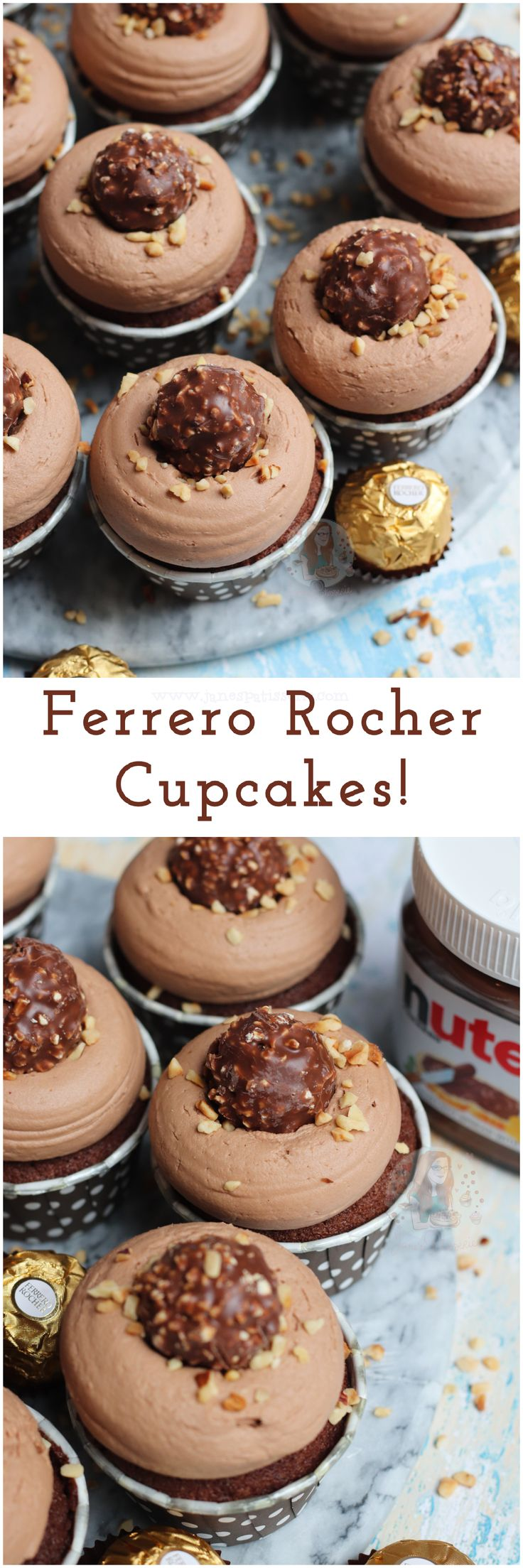 Ferrero Rocher Cupcakes!! Chocolate Sponge, Hidden…