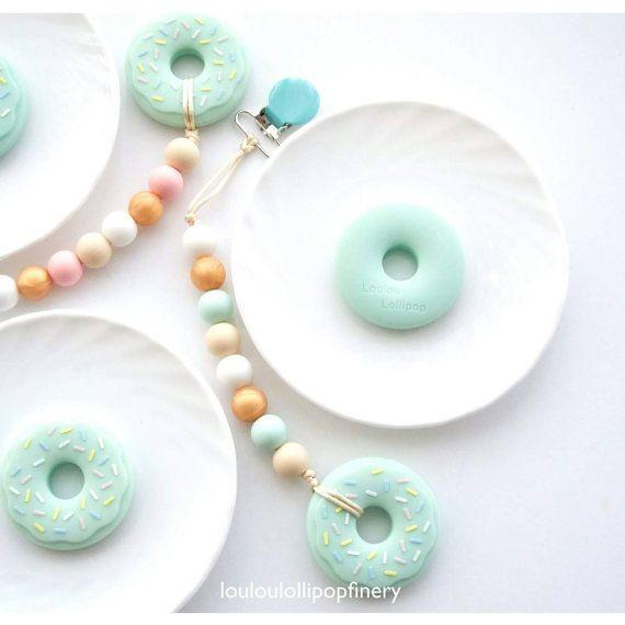 Loulou Lollipop Donut Teether by LouLouLollipopFinery on Etsy