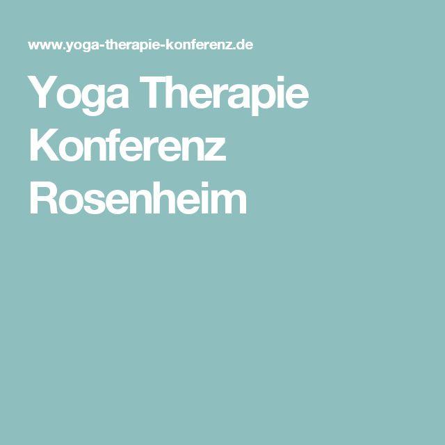 Yoga Therapie Konferenz Rosenheim