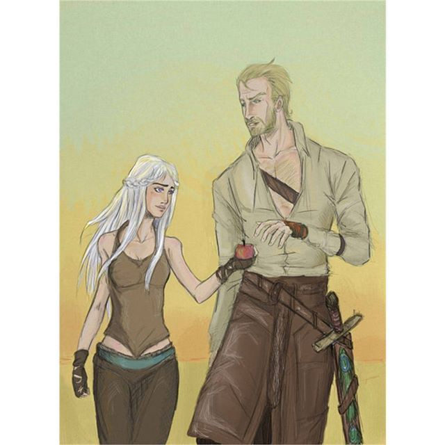 Ser Jorah Mormont and Dany by  Sanzo-Sinclaire -  #GameOfThrones #GoT #Daenerys #Khaleesi #JonSnow #GotArt #GameOfThronesArt #DaenerysTargaryen #Daenerys #Targaryen #MotherOfDragons #Dany #EmiliaClarke #KitHarington #GameOfThronesFamilly #GoTFamily #GoTPage #GoTFanPage #GotFanArt #Winterfell #Westeros #Ironthrone #asoiaf #ASongOfIceAndFire #Dragon #Dragons #Drogon #Rhaegal #Viserion #ThronesDragons