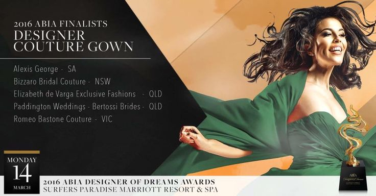 In the Media | Elizabeth de Varga ABIA | Designer Couture | awards | finalist | Australian designer