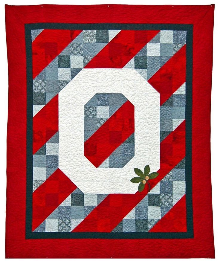 58 Best Quilts Sports Images On Pinterest Ohio State Buckeyes Memory Quilts And Ohio State University