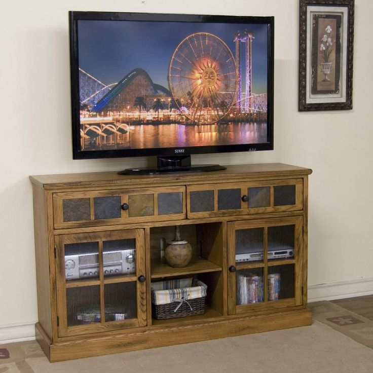 Mission Oak Slate Tv Stand Furniture Pinterest