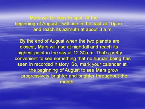 Are We Headed for a Close Encounter with Mars?: Slide #4
