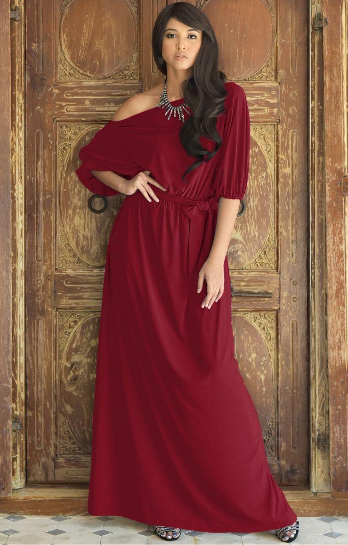 Macy Maxi Dress Off The Shoulder Sale 3 4 Sleeve Gown Dresses Macy Dresses Off One Shoulder Dress [ 1110 x 710 Pixel ]