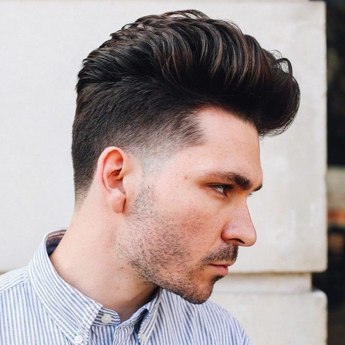 Tapered Pompadour Hairstyle Menshairstyles Mens Hairstyles