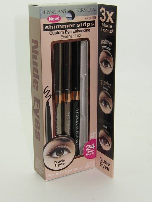 Physicians Formula Shimmer Strips Custom Eye Enhancing Trio Eyeliner- Nudes (Champagne, Pewter and Shimmery Black)