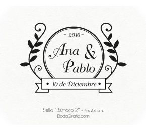 "Sello Boda ""Barroco 2"" - Wedding Stamp"