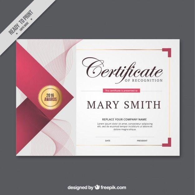 Resumen líneas de certificado Vector Gratis                                                                                                                                                                                 Más