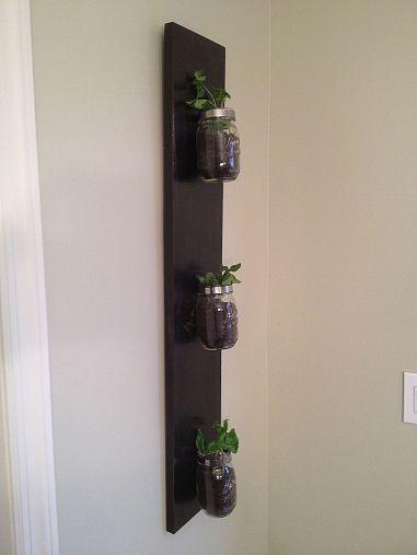 Create a Custom Indoor Herb Garden Design from Mason Jars