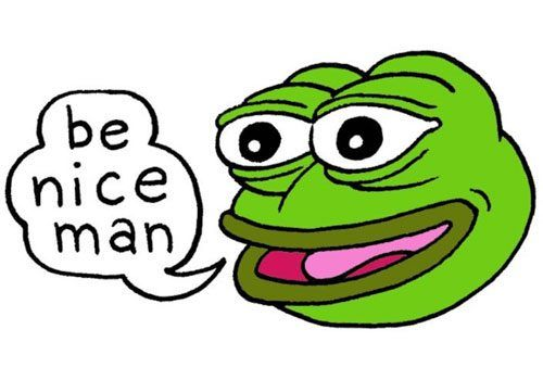 Pepe as a universal symbol for love, peace and acceptance