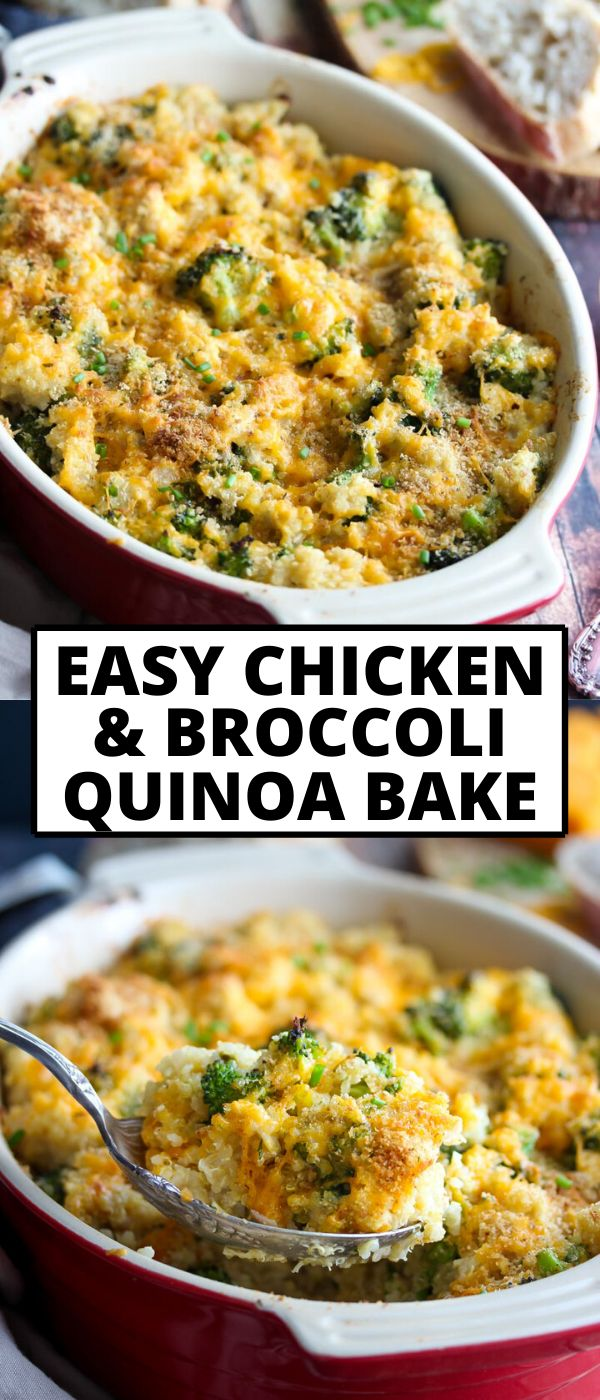 Chicken, broccoli and quinoa are tossed in a lusciously creamy sauce and baked to cheesy perfection in this faux 'mac n'…