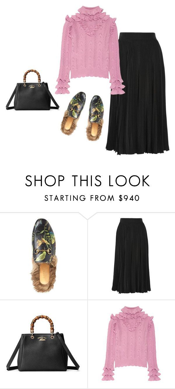 """""""gucci top to toe"""" by victoriaandersen ❤ liked on Polyvore featuring Gucci"""