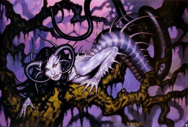 Дракайна  это змей-дракон женского пола, часто с человеческим чертами. Совсем безобидна для девушек, но опасна для молодых парней. Она их съедает.