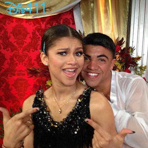 "Photo: Zendaya And Victor Ortiz Having Fun Backstage At ""DWTS"" April 22, 2013"