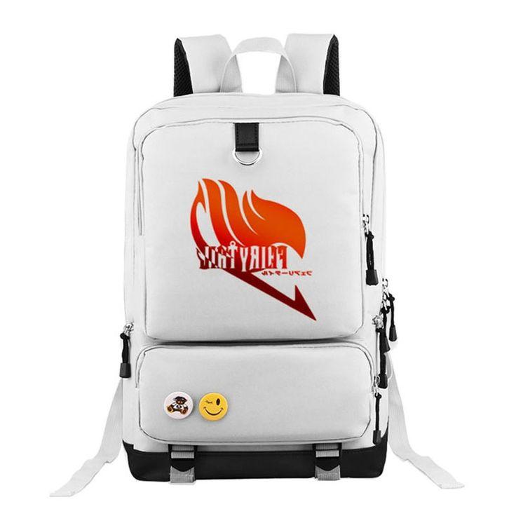 31.90$  Buy here - https://alitems.com/g/1e8d114494b01f4c715516525dc3e8/?i=5&ulp=https%3A%2F%2Fwww.aliexpress.com%2Fitem%2FHigh-Quality-2016-Hot-Anime-Fairy-Tail-Logo-Natsu-Luminous-Printing-Teenagers-Oxford-Backpack-Laptop-Bag%2F32771799093.html - High Quality 2016 Hot Anime Fairy Tail Logo Natsu Printing Teenagers Oxford Backpack Laptop Bag School Bag Mochila Feminina