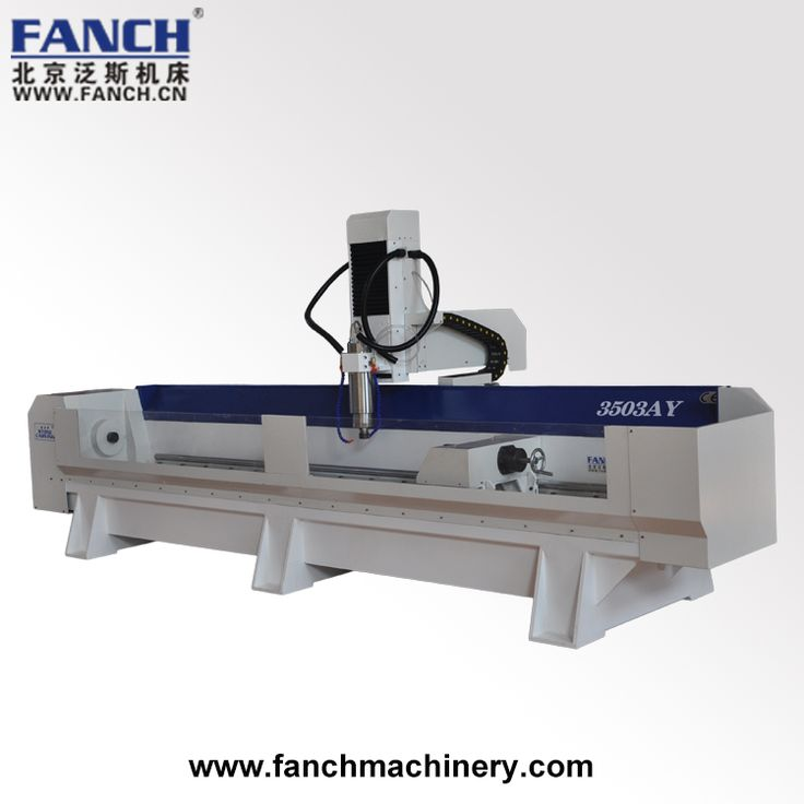 SKD-3503AY stone CNC router machine is four axis stone router machine, working area can be 350mm diameter by 3000mm length, widely used for three-dimensional processing of stone products, 360°carving human body, statues, sculptures, handicrafts, furniture, stone handicrafts and so on.