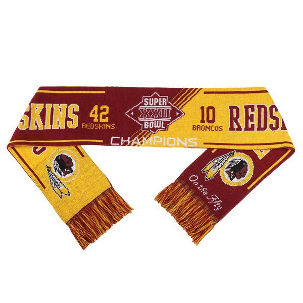 Washington Redskins Super Bowl XXII On the Fifty Acrylic Scarf - $19.99