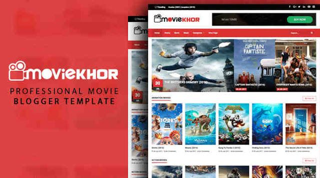 Moviekhor Movie Blogger Template Responsive Blogspot Template Blogger Templates Blogspot Template Free Blogger Templates