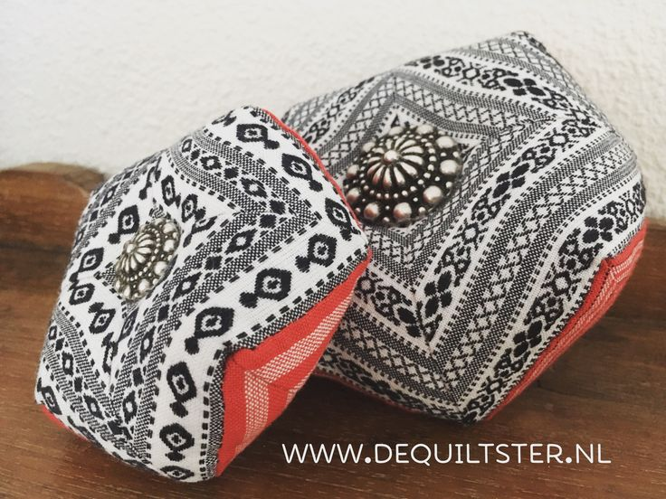 Pincushion 'Zeeuwse Knop' made with traditional fabric and button from the province Zeeland in the Netherlands