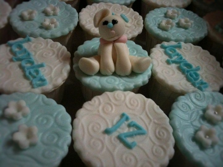 Boy's Christening Cupcakes
