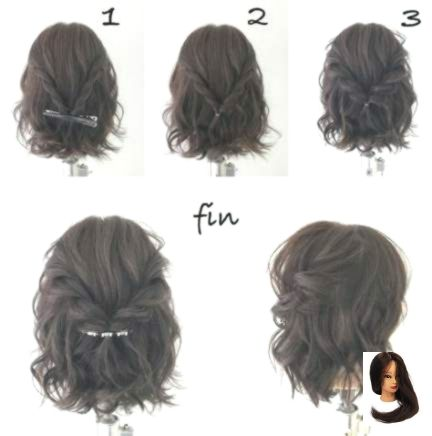 #Curly Hairstyles updo #Elegant #Formal #Hairstyles #Ideas #Short