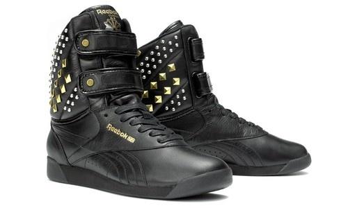 WANT~Reebok Alicia Keys Karmaloop Dubble Bubble Studded Sneakers Shoes Black | eBay