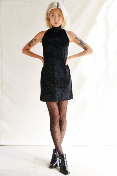 Urban Renewal Remade Velvet Mini Dress - Urban Outfitters