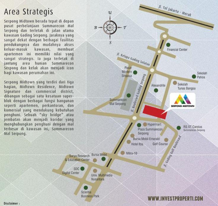 Peta lokasi Serpong Midtown Residence